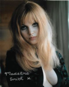 Madeline Smith  HAMMER HORROR - BOND Genuine Signed Autograph 10x8 COA 11362